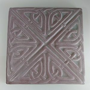 Large Celtic mauve decor tile can be layed or hung
